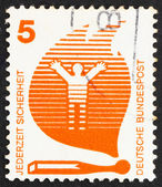 Postage stamp Germany 1971 Matches Cause Fires, Accident Prevent — Stock Photo