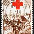 Stock Photo: Postage stamp Italy 1959 After Battle of Magenta, by Giovann