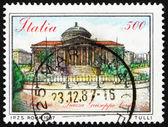Postage stamp Italy 1987 Piazza Giuseppe Verdi, Palermo — Stock Photo