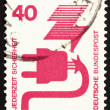 Postage stamp Germany 1972 Defective Plug, Accident Prevention — Stock Photo #10143283