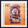 Postage stamp Germany 1984 Stone God with Beaded Turban — Stock Photo