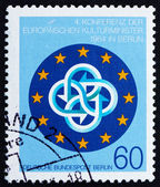 Postage stamp Germany 1984 Conference Emblem — Stock Photo