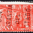 Postage stamp Spain 1959 Monastery of Guadalupe, Portals - Stock Photo