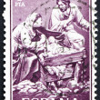Postage stamp Spain 1961 Nativity, Sculptured by Jose Gines - Foto Stock