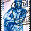 Postage stamp Spain 1962 Christ, Ecce Homo, Sculpture by Alonso - Foto Stock