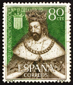 Postage stamp Spain 1963 King James I the Conqueror — Stock Photo