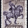 Postage stamp Spain 1962 Equestrian Statue of El Cid Campeador, - Stock Photo