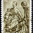 Postage stamp Spain 1962 Holy Family by Pedro de Mena — Stock Photo #10206136