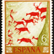Royalty-Free Stock Photo: Postage stamp Spain 1962 Hunters and Deer Herd, Wall Painting