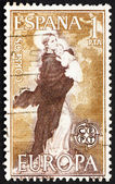 Postage stamp Spain 1963 Our Lady of Europe — Stock Photo