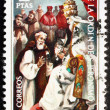 Stock Photo: Postage stamp Spain 1973 Pope Gregory XI and Pedro Fernandez Pec