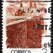 Postage stamp Spain 1976 Lugo City Wall, Galicia — Stock Photo