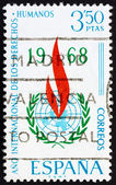 Postage stamp Spain 1968 Human Rights Emblem — Stock Photo