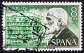 Frimärke spanien 1973 antonio gaudi, arkitekt — Stockfoto