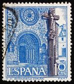 Selo postal Espanha 1967 betanzos igreja, Corunha, Espanha — Fotografia Stock