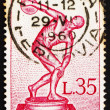 Postage stamp Italy 1960 Statue of Discobolus by Myron — Stock Photo #10258285