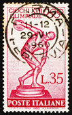Postage stamp Italy 1960 Statue of Discobolus by Myron — Stock Photo