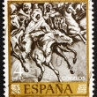 Postage stamp Spain 1968 Battle of Tetuan 1860, by Mariano Fortu — Stock Photo