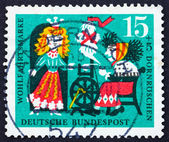 Postage stamp Germany 1964 Princess and Wicked Fairy, Scene from — Стоковое фото