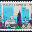Postage stamp Germany 1994 View of Frankfurt Am Main - Stock Photo