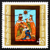 Postage stamp Germany 1981 Adoration of the Kings, 19th Century — Stock Photo