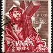 Postage stamp Spain 1961 Jesus Christ Carrying Cross — Stock Photo #10387005