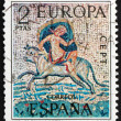 Postage stamp Spain 1973 Abduction of Europa, Roman Mosaic — Stock Photo
