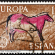Postage stamp Spain 1975 Horse, Wall Painting from Tito Bustillo — Stock Photo