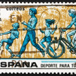 Postage stamp Spain 1979 Children kicking Ball and Skipping Rope — Stock Photo