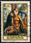 Postage stamp Spain 1970 Pieta, painting by Luis de Morales — Stock Photo