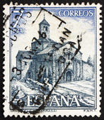 Postage stamp Spain 1975 Church of St. Mary, Tarrasa, Spain — Stock Photo