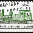 Royalty-Free Stock Photo: SPAIN - CIRCA 1993: a stamp printed in the Spain shows Locomotiv