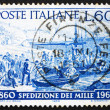 Postage stamp Italy 1960 Volunteers embarking, Quarto, Genoa — Stock Photo #10409895