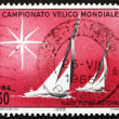 Postage stamp Italy 1965 Sailboats of Flying Dutchman Class - Stock Photo