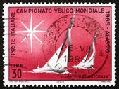 Postage stamp Italy 1965 Sailboats of Flying Dutchman Class — Stock Photo