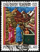 Postage stamp Italy 1965 Dante in Hell, Dante Alighieri, poet — Stock Photo