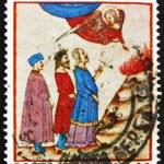 Постер, плакат: Postage stamp Italy 1965 Dante in Purgatory Dante Alighieri po