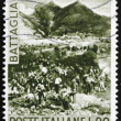 Stock Photo: Postage stamp Italy 1966 Battle of Bezzecca, Centenary of Un