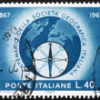 Stock Photo: Postage stamp Italy 1967 Globe and Compass Rose
