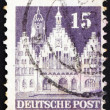 Stock Photo: Postage stamp Germany 1948 Frankfurt Town Hall