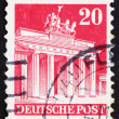 Postage stamp Germany 1948 Brandenburg Gate, Berlin - Stock Photo