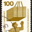 Postage stamp Germany 1973 Hoisted Cargo, Accident Prevention — Stock Photo #10445636