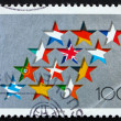 Postage stamp Germany 1994 Stars and Flags of EU — Stock Photo