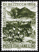 Postage stamp Italy 1966 Battle of Bezzecca, Centenary of the Un — Stock Photo