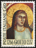 Postage stamp Italy 1966 Madonna, by Giotto, painter — Stock Photo