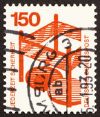 Postage stamp Germany 1972 Fenced-in open manhole, Accident Prev — Stock Photo