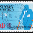 Postage stamp Finland 1990 War Veteran — Stock Photo #10473226