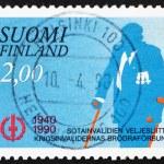 ������, ������: Postage stamp Finland 1990 War Veteran