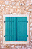 Closed window shutters — Stock Photo