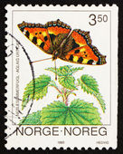 Postage stamp Norway 1993 Small Tortoiseshell, Aglais Urticae, B — Stock Photo